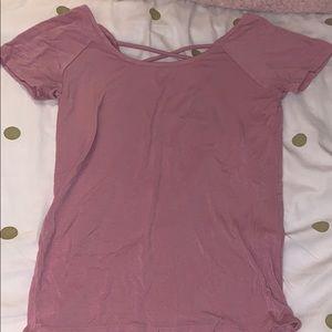 Pink short sleeve top